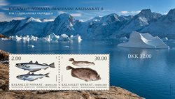 Fisk i Grønland II - Postfrisk - Miniark