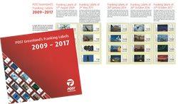 Frankeringsmærker 2009-2017 - Postfrisk - Souvenirmappe