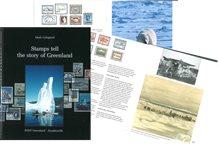 Frimærkerne fortæller om Grønland - Engelsk - Bog