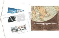 Tolv Grønlandekspeditioner 1818-1978 - Set gennem frimærker - Engelsk - Bog