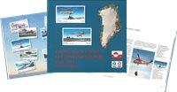 Grønlands civile luftfartshistorie 1960-2015 på frimærker - Dansk - Bog