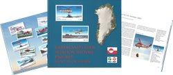Grønlands civile luftfartshistorie 1960-2015 på frimærker - Engelsk - Bog