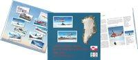 Grønlands civile luftfartshistorie 1960-2015 på frimærker - Tysk - Bog