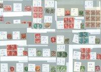 Færøerne - 1 pose Færø-stempler på danske frimærker