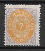 Danish West Indies 1873 - AFA 8 - Mint