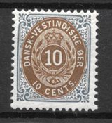 Danish West Indies 1876 - AFA 11B - Mint