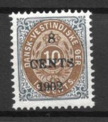 Deens West-Indië 1902 - AFA 19 - Postfris