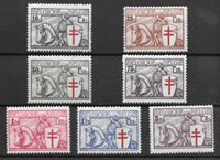 Belgio 1934 - AFA 385-391 - Nuovi linguellati