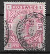 Englanti 1883 - AFA 83 - Leimattuina
