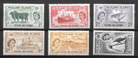 British Colonies 1955 - Kat. 117-122 - Mint