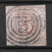 Allemagne États 1859 - AFA 18 - Oblitéré