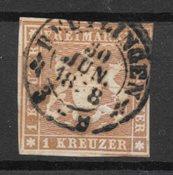 Allemagne États 1857 - AFA 6 - Oblitéré