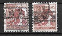 Allemagne Zones 1948 - AFA 30-30a - Oblitéré