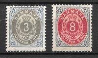 Danmark  - AFA 22B+25B - ustemplet