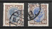 Danimarca  - AFA 107 + 107a - Usati
