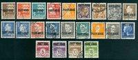 Danmark - Postfærgemærker 22 forskellige stemplede