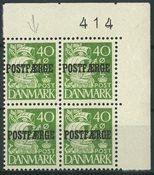 Danmark - Postfærge AFA 25 i 4-blok, ubrugt