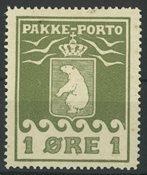 Grønland - Pakkeporto AFA 1 ubrugt 1905