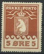 Grønland - Pakkeporto AFA 2 ubrugt uden lim 1905