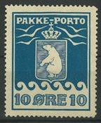 Grønland - Pakkeporto AFA 3 uden lim 1905, ubrugt
