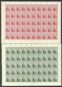Islande - Série compl. de feuilles entières 1950