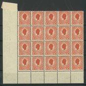 Dansk Vestindien - AFA 25 postfrisk 20-blok