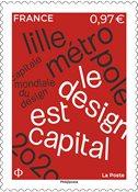Frankrig - Lille Metropole - Postfrisk frimærke