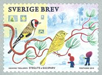 Suède - Timbre de Noël - Timbre neuf de rouleau