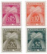 Andorre français 1961 - YT T42/45 - Neuf