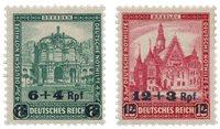 Tyskland - Tyske Rige 1932 - Michel 463/464 - Ubrugt