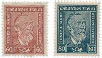 Empire Allemand 1924 - Michel 362/363 - Neuf