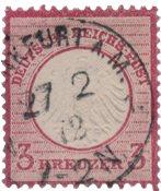 Tyskland - Tyske Rige 1872 - MICHEL 9 - Stemplet
