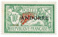Andorre français 1931 - YT 22 - Neuf avec charnières