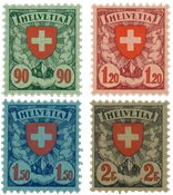 Suisse 1924 - Michel 194/197x - Neuf avec charnières
