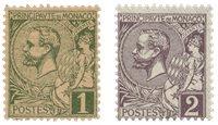 Monaco 1891/1894 - YT 11/12 - Neuf