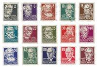 Østtyskland/DDR 1952 - Michel 327/341 - Postfrisk