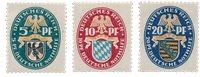 Tyskland - Tyske Rige 1925 - MICHEL 375/377 - Ubrugt