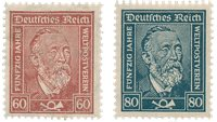 Tyskland - Tyske Rige 1924 - MICHEL 362/363 - Ubrugt