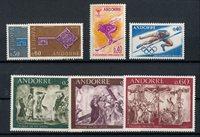 Andorre français 1968 - YT 187/193 - Neuf