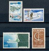 Andorre français 1966 - YT 175/178 - Neuf