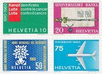Suisse 1960 - Michel 692/695 - Neuf