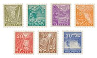 Schweiz 1934 - Michel 270/276 - Ubrugt