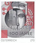 Østrig - Salzburger Festspil - Postfrisk frimærke