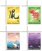 New Zealand - Year of the Rat - Mint set 4v