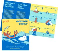 Finlande - Les Moumines à la mer - Carnet neuf