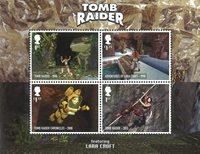 Engeland - Video Games Tomb Raider - Postfris souvenirvelletje