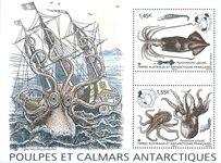 Antarctique Francaise - Calamars - Bloc-feuillet neuf