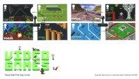 Engeland - Video Games - FDC met serie van 8