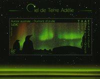 T.A.A.F. - Le ciel au-dessus d'Adélie - Bloc-feuillet neuf