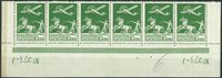 Danmark - AFA 144 postfrisk 6-stribe 1925